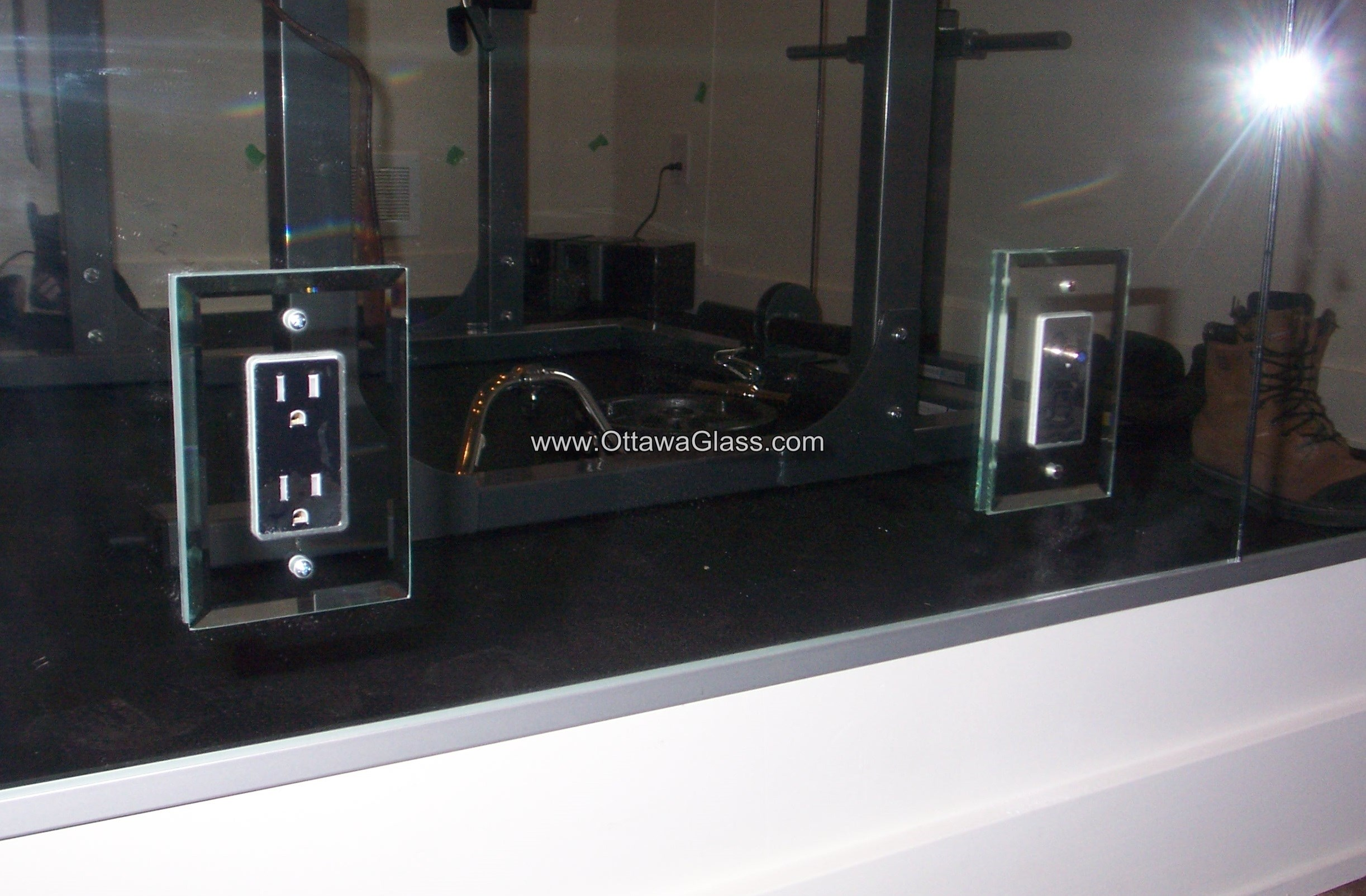 or for electrical outlets, then have mirror plates put on them.